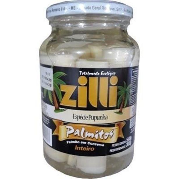 Oferta de Palmito Inteiro Zilli 300g por R$12,98