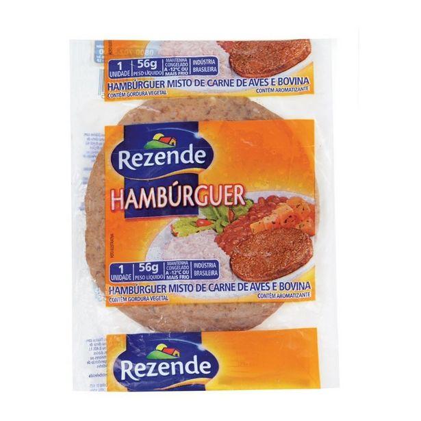 Oferta de Hambúrguer Rezende 56G por R$0,79