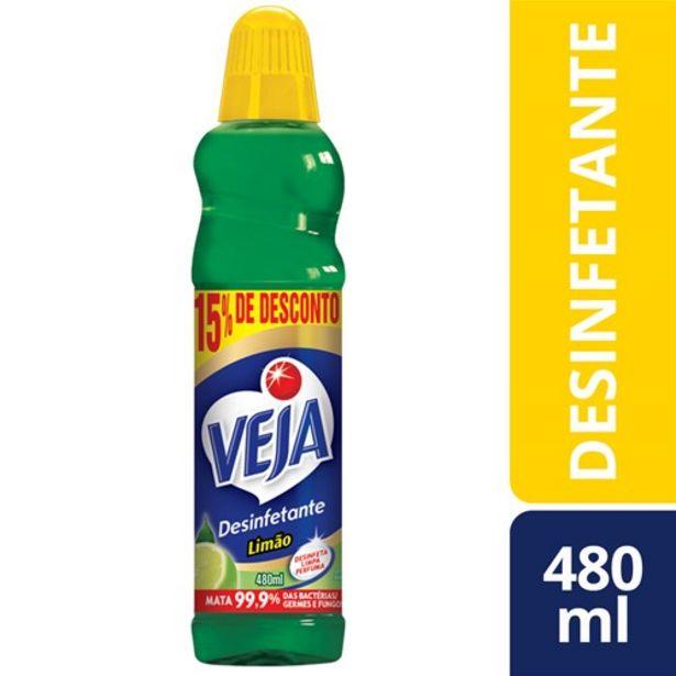 Oferta de Desinfetante Veja Limão Oferta 480Ml por R$4,59