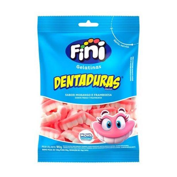 Oferta de Bala Fini Gelatinas Dentaduras Embalagem 90G por R$5,99