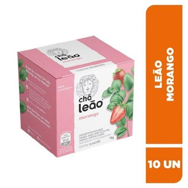 Oferta de Chá Leão Morango Sachê 10Un por R$6,99