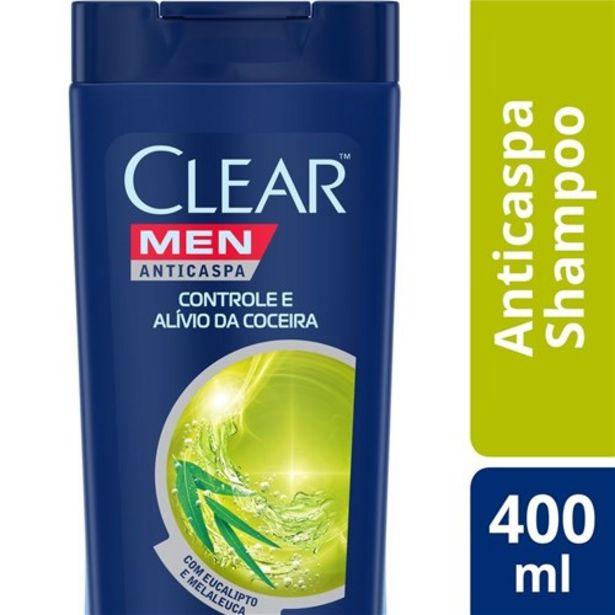 Oferta de Shampoo Anticaspa Clear Men Controle e Alívio da Coceira 400Ml por R$19,99