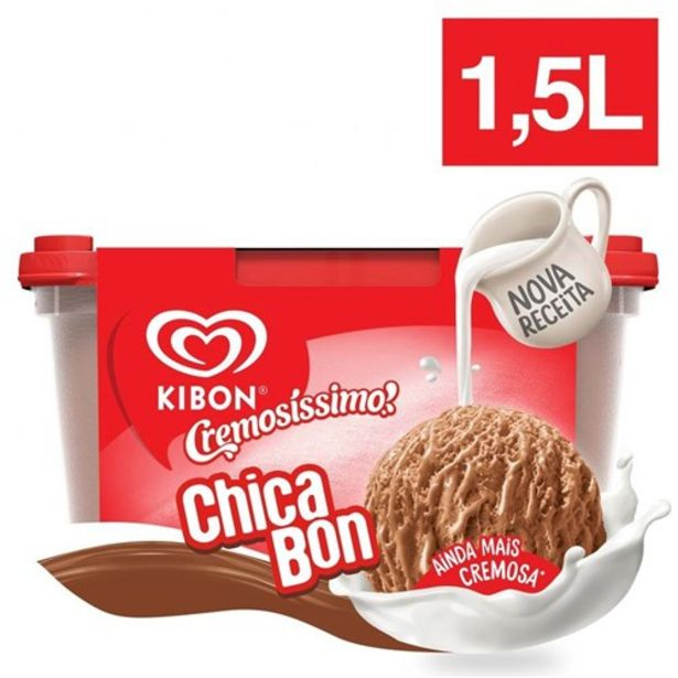 Oferta de Sorvete Kibon Chicabon 1,5L por R$18,99