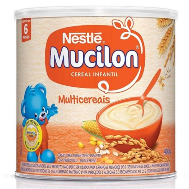 Oferta de Cereal Infantil Mucilon Multicereais 400G por R$6,99