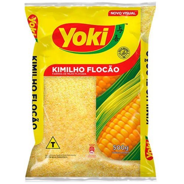 Oferta de Farinha de Milho Flocada Yoki Kimilho Flocão 500G por R$1,99