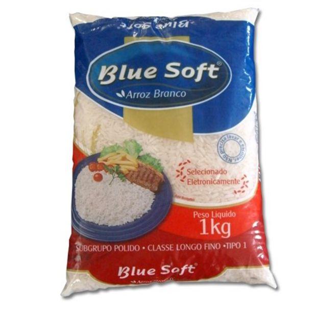 Oferta de Arroz Branco Tipo 1 Blue Soft Embalagem 1Kg por R$4,49