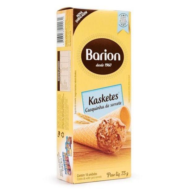 Oferta de Casquinha de Sorvete Barion Kasketes 75G 18Un por R$4,99
