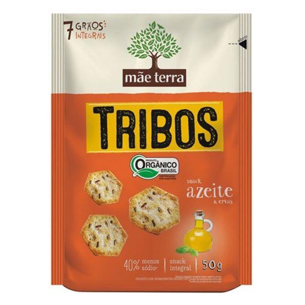 Oferta de Biscoito Salgado Orgânico Mãe Terra Tribos Azeite e Ervas 50G por R$4,24