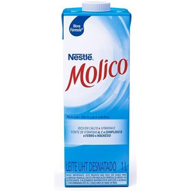 Oferta de Leite Nestlé Uht Molico Desnatado 1 Litro por R$4,49