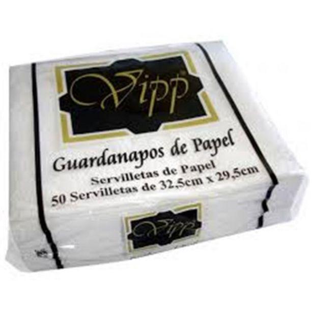 Oferta de Guardanapo de Papel Vipp 32,5X29,5Cm Embalagem 50Un por R$2,49