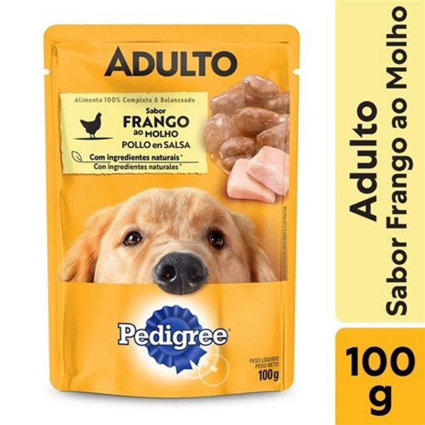 Oferta de Ração Úmida Pedigree Sachê Frango Ao Molho para Cães Adultos 100 G por R$2,99
