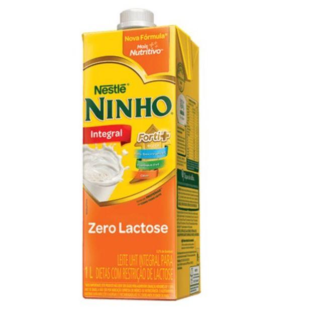 Oferta de Leite Nestlé Uht Ninho Integral Zero Lactose 1 Litro por R$4,99