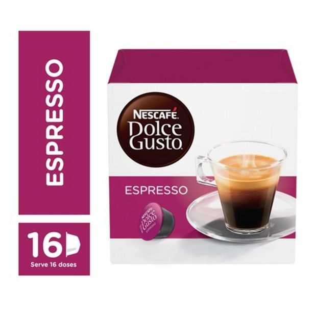Oferta de Café Cápsula Nescafé Dolce Gusto Espresso 16Un por R$24,9