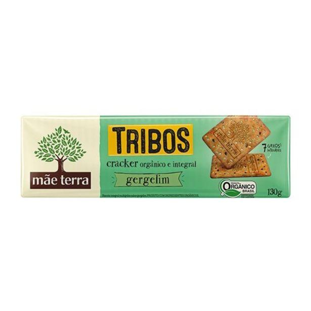 Oferta de Biscoito Cracker Integral e Orgânico Mãe Terra Gergelim 130G por R$4,67