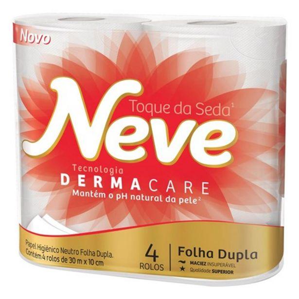 Oferta de Papel Higiênico Neve Folha Dupla Toque de Seda Pacote 4Un por R$7,99