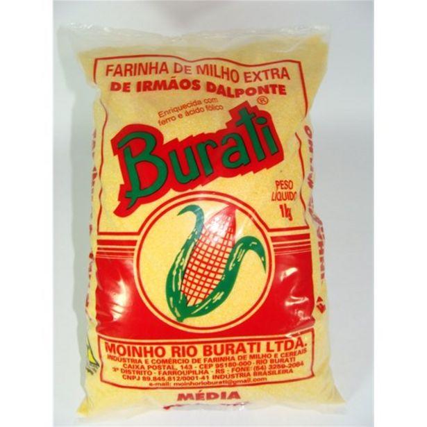 Oferta de Farinha de Milho Burati Embalagem 1Kg por R$3,99