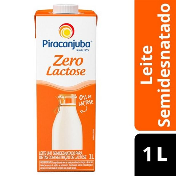 Oferta de Leite Piracanjuba Zero Lactose 1L por R$3,99