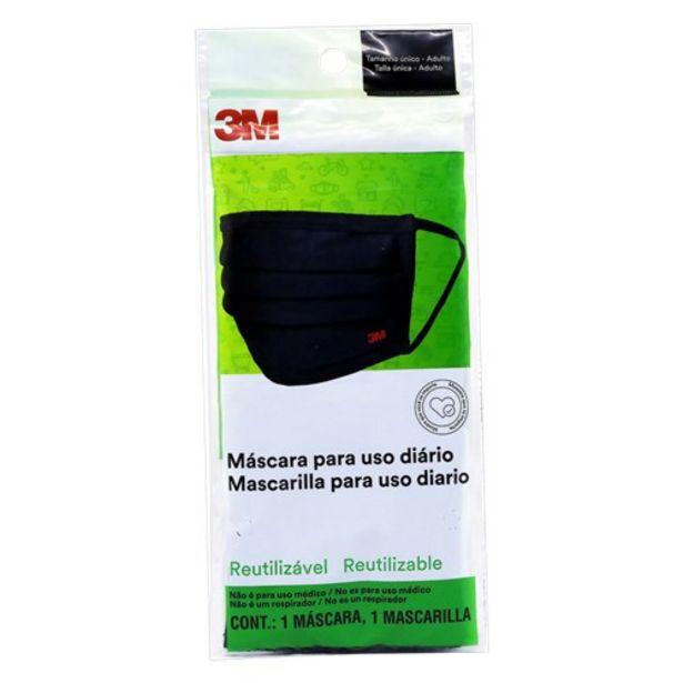 Oferta de 3M Mascara Reutilizavel com 1 Unidade por R$18,9