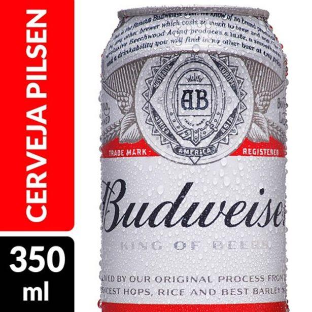 Oferta de Cerveja Budweiser 350Ml por R$3,29