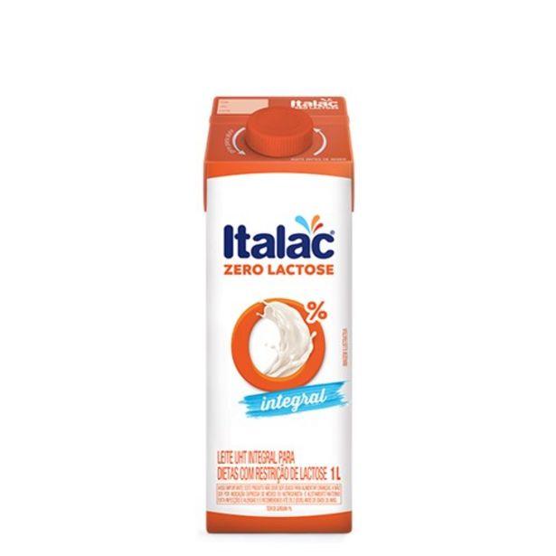 Oferta de Leite Integral Italac Zero Lactose 1L por R$3,99