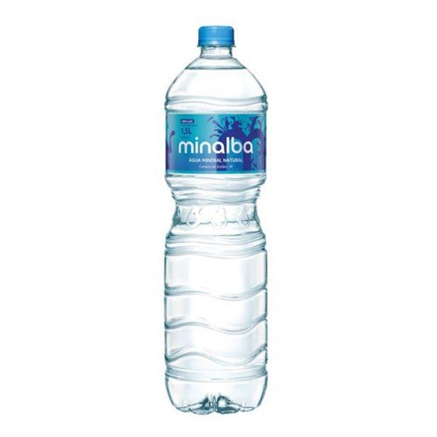Oferta de Água Mineral sem Gás Minalba Garrafa 1,5L por R$1,79