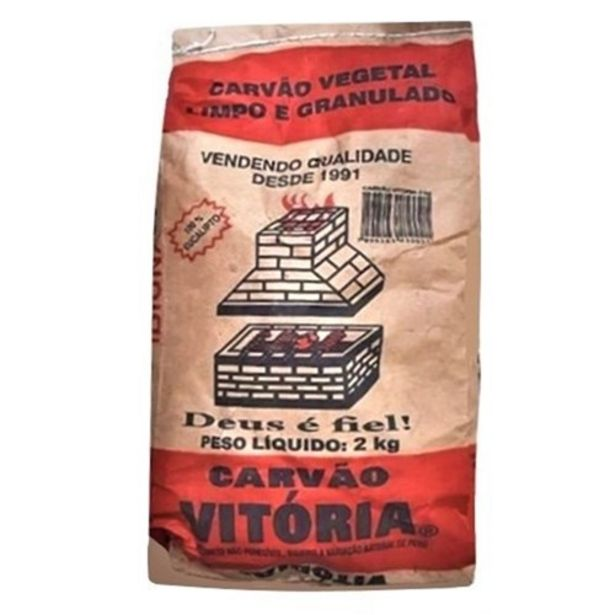 Oferta de Carvão Vitória 2Kg por R$8,49