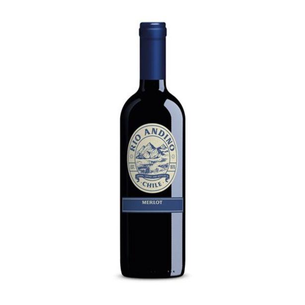 Oferta de Vinho Tinto Rio Andino Merlot Garrafa 750Ml por R$23,9