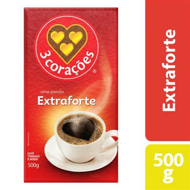 Oferta de Café 3 Corações Vácuo Extra Forte 500G por R$9,99