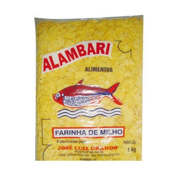 Oferta de Farinha de Milho Alambari Pacote 1Kg por R$5,99