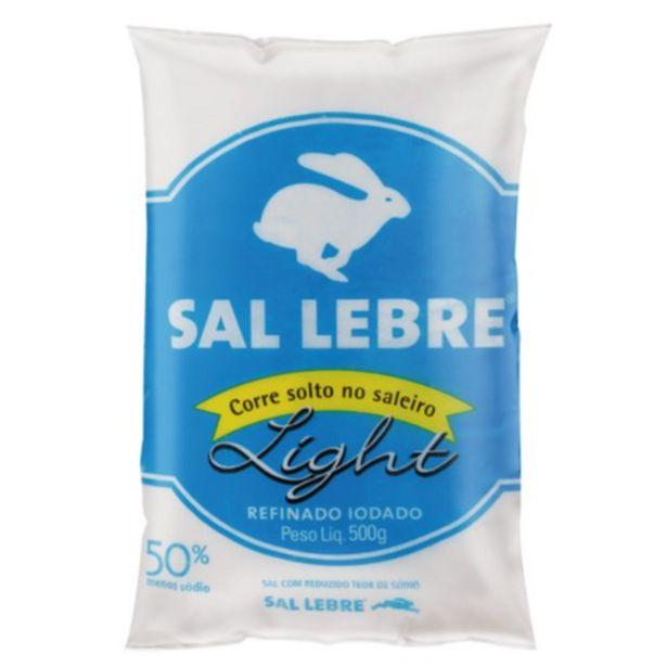 Oferta de Sal Refinado Light Lebre Embalagem 500G por R$6,59