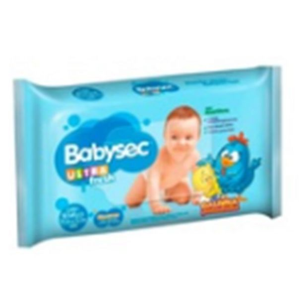 Oferta de Lenço Umedecido Babysec Pacote 46 Unidades por R$8,59
