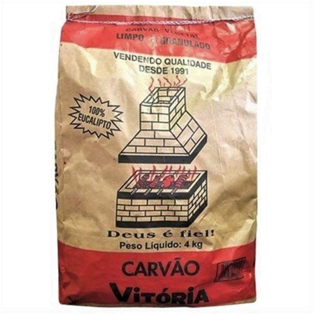 Oferta de Carvão Vitória 4Kg por R$16,99