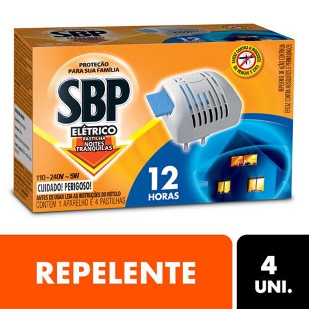 Oferta de Repelente Sbp Aparelho Elétrico 12 Horas 1Un + Refil 4Un por R$24,6