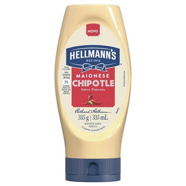 Oferta de Maionese Hellmann's Chipotle 335G por R$8,07