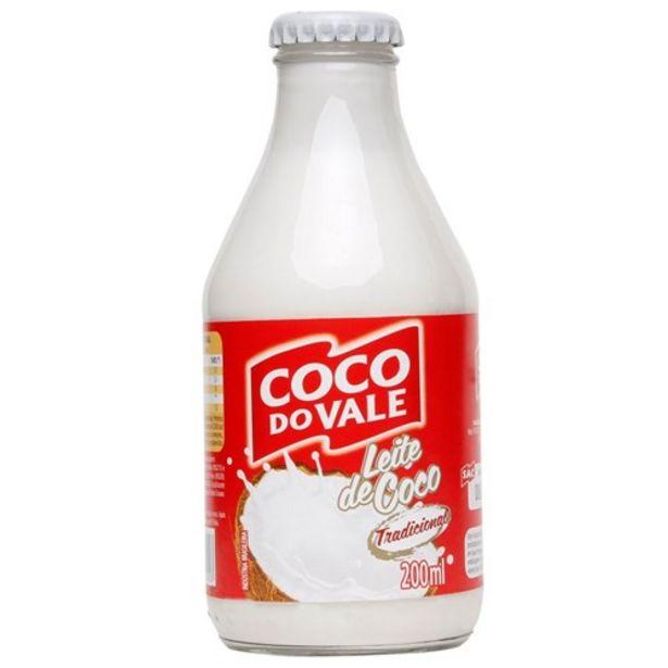 Oferta de Leite de Coco Coco Do Vale Tradicional Vidro 200Ml por R$3,25