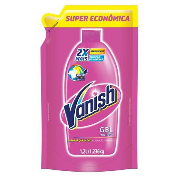 Oferta de Tira Manchas Vanish Gel Rosa 1,2L por R$15,65