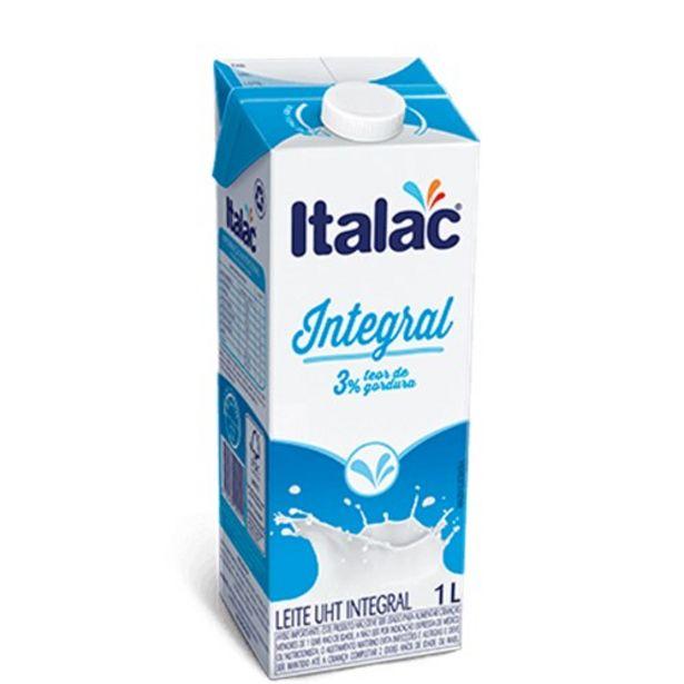 Oferta de Leite Uht Italac Integral 1L por R$3,49