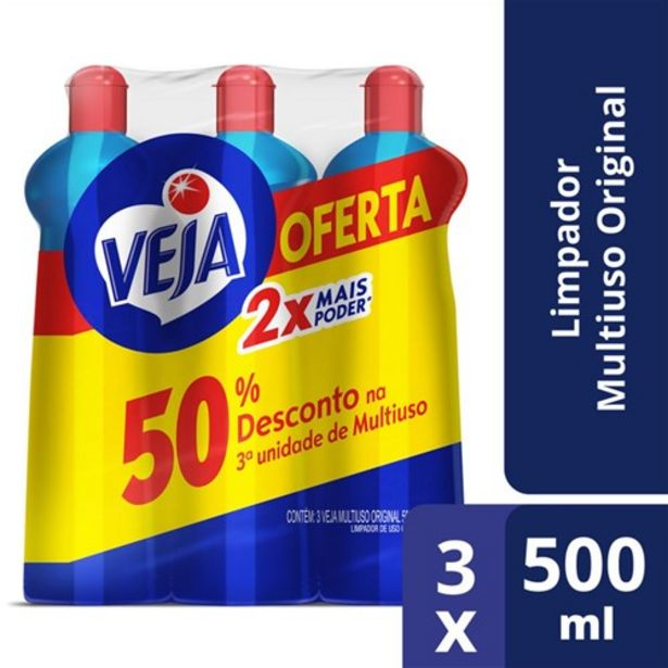 Oferta de Limpador Multiuso Veja Original 500Ml Oferta 3Un por R$8,79