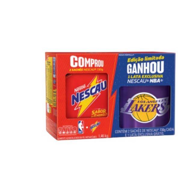 Oferta de Kit 2 Achocolatados em Pó Nescau Grátis 1Lata Exclusiva Nescau Nba 730G Cada Nestlé por R$23,98