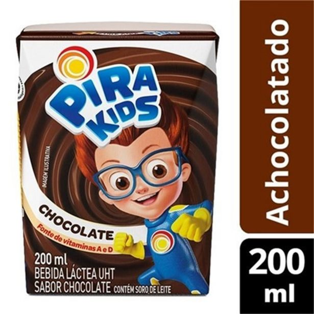 Oferta de Achocolatado Pirakids 200Ml por R$0,99