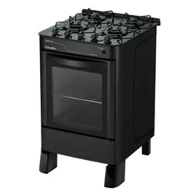 Oferta de Fogão Ágata Glass Esmaltec 4 Bocas Acendimento Automático Preto - Bivolt por R$799