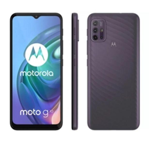 """Oferta de Smartphone Motorola Moto G10 64GB Cinza Aurora - 4G 4GB RAM Tela 6,5"""" Câm. Quádrupla + Selfie 8MP por R$1499"""