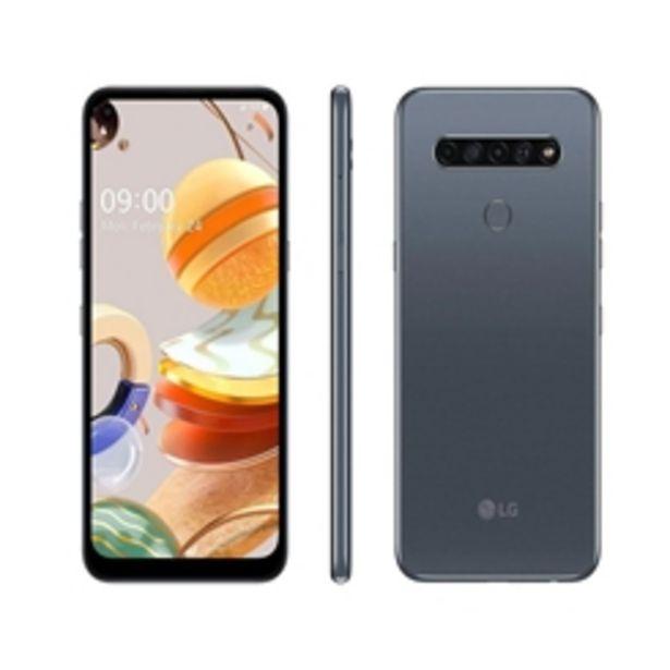 """Oferta de Smartphone LG K61 128GB - 6,5"""" 4G por R$1499"""