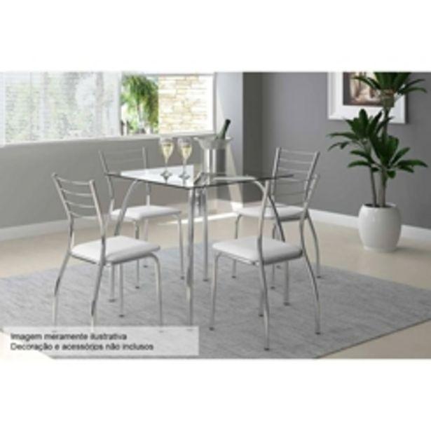 Oferta de Mesa de Jantar com 4 Cadeiras Móveis Carraro por R$869