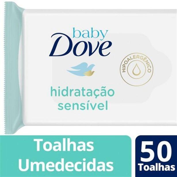 Oferta de Lenço Umedecido Baby Dove Hidratação Sensível 50Un por R$9,9
