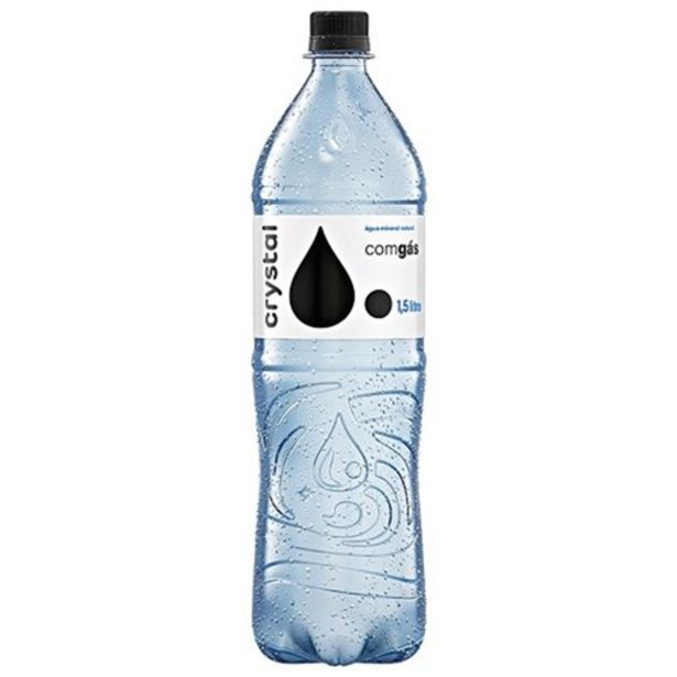 Oferta de Água Mineral com Gás Crystal 1,5L por R$2,47