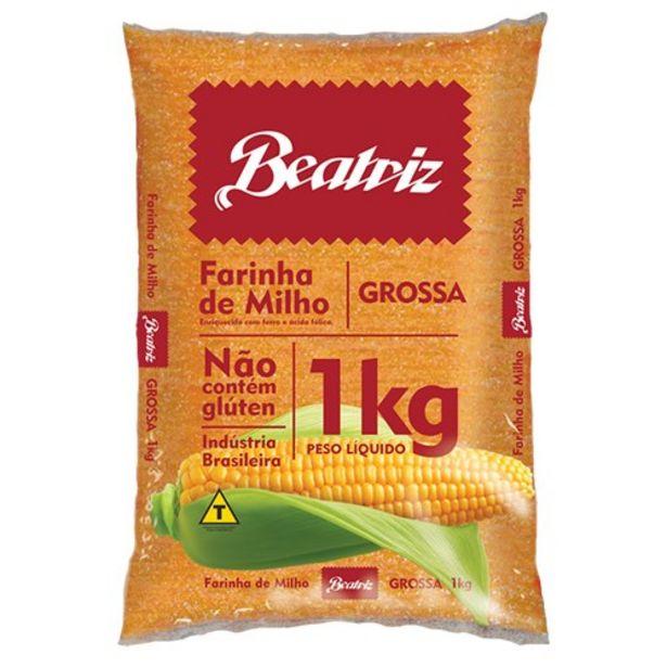 Oferta de Farinha de Milho Beatriz Grossa Embalagem 1 Kg por R$2,99