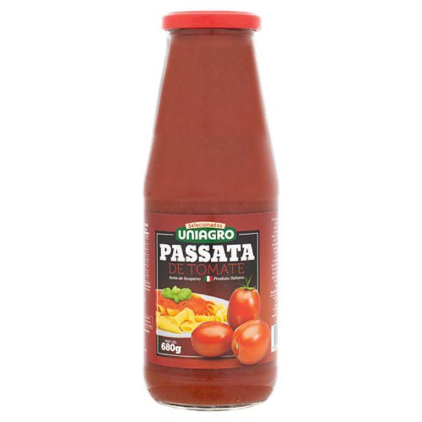 Oferta de Molho de tomate Uniagro passata 680g por R$13,5