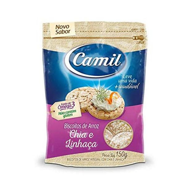 Oferta de Biscoito de arroz Camil com pimenta 150g por R$7,49