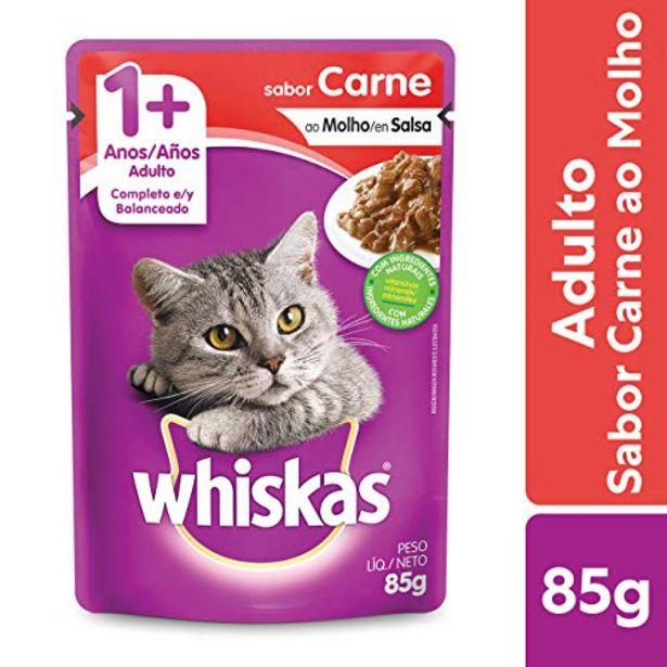 Oferta de Ração para gato Whiskas carne 85g por R$2,98